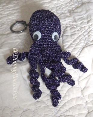 porte-clés pieuvre violette